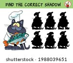 cat chef with fish. find the...   Shutterstock .eps vector #1988039651