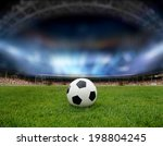 soccer ball on the field of... | Shutterstock . vector #198804245