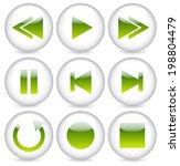 glossy audio button set....