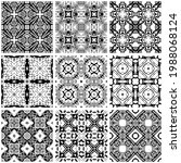 collection of seamless patterns ... | Shutterstock .eps vector #1988068124