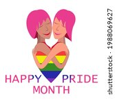happy pride month background...   Shutterstock .eps vector #1988069627