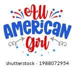 all american girl   happy...   Shutterstock .eps vector #1988072954