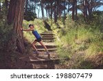streching woman fitness... | Shutterstock . vector #198807479