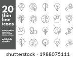 brainstorm thin line icons set. ... | Shutterstock .eps vector #1988075111