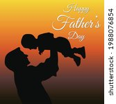 happy father's day greetings.... | Shutterstock .eps vector #1988076854