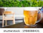 Golden Beer In A Glass Stein...