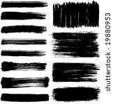 a collection of 12 brush... | Shutterstock .eps vector #19880953