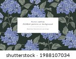 vintage card with hydrangea... | Shutterstock .eps vector #1988107034