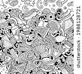 fastfood hand drawn vector...   Shutterstock .eps vector #1988128721