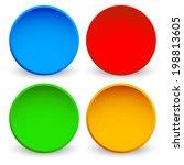 blank glossy sphere elements   Shutterstock .eps vector #198813605