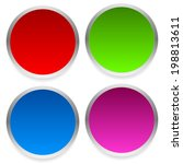 blank vivid circles vector... | Shutterstock .eps vector #198813611