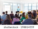 speaker at business convention... | Shutterstock . vector #198814559