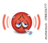 cute sick emoticon with... | Shutterstock .eps vector #1988156777