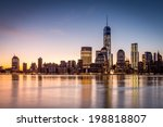 sunrise over the lower manhattan | Shutterstock . vector #198818807