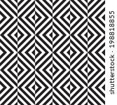 black and white geometric... | Shutterstock .eps vector #198818855