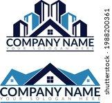real estate agent logo icon... | Shutterstock .eps vector #1988200361