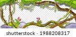 jungle liana vector green frame ... | Shutterstock .eps vector #1988208317