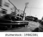 Hotrod Car At Busy City...