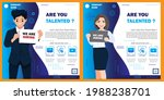 job hiring banner template... | Shutterstock .eps vector #1988238701