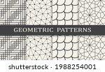 set of geometric seamless... | Shutterstock .eps vector #1988254001