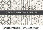 set of geometric seamless... | Shutterstock .eps vector #1988254004