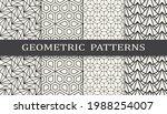 set of geometric seamless... | Shutterstock .eps vector #1988254007