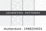set of geometric seamless... | Shutterstock .eps vector #1988254031