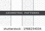set of geometric seamless... | Shutterstock .eps vector #1988254034