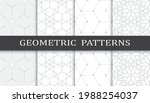 set of geometric seamless... | Shutterstock .eps vector #1988254037