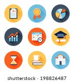 vector set of flat icons... | Shutterstock .eps vector #198826487
