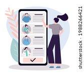 female patient chooses doctor...   Shutterstock .eps vector #1988266421