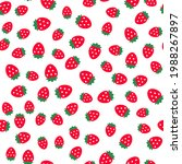 strawberry seamless vector...   Shutterstock .eps vector #1988267897