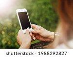 Girl Using White Mobile Phone....