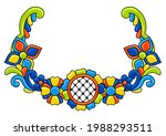 decorative element with mexican ... | Shutterstock .eps vector #1988293511