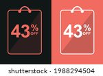 43  off.sale banner with forty... | Shutterstock .eps vector #1988294504