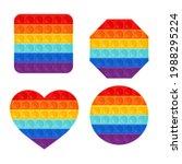 set of trendy pop it fidgets. ... | Shutterstock .eps vector #1988295224