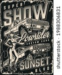 lowrider cars show vintage... | Shutterstock .eps vector #1988306831