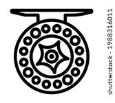 icon of fishing reel. bold...