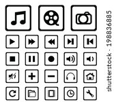modern media icons isolated for ...