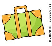 suitcase icon.flat design style ...   Shutterstock .eps vector #1988373761