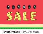 """text """"summer sale"""" on red...   Shutterstock .eps vector #1988416001"""