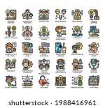 set of creative learning thin... | Shutterstock .eps vector #1988416961