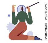 woman looking through... | Shutterstock .eps vector #1988419091