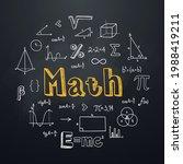 math chalkboard background in... | Shutterstock .eps vector #1988419211