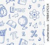 school seamless pattern in hand ... | Shutterstock .eps vector #1988419214