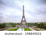 tour eiffel view from trocadero | Shutterstock . vector #198845021