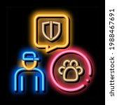 animal defender protector neon... | Shutterstock .eps vector #1988467691