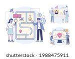 business professionals are... | Shutterstock .eps vector #1988475911