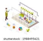 robot working in greenhouse ...   Shutterstock .eps vector #1988495621