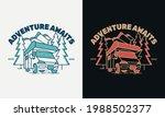 adventure awaits  van with... | Shutterstock .eps vector #1988502377